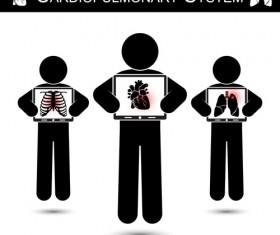 Cardiopulmonary system vector