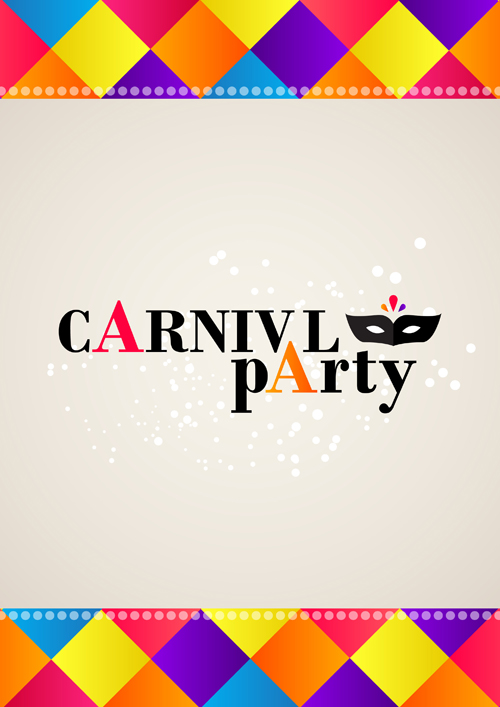 carnival party background creative vector 01