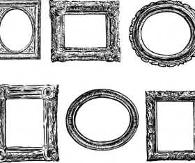 Classical photo frame vector material 01