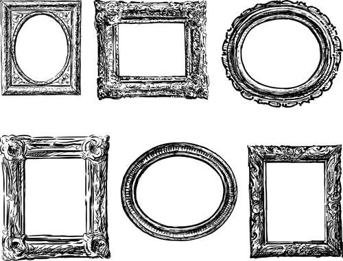 Classical Photo Frame Vector Material 01 Free Download
