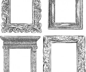Classical photo frame vector material 05