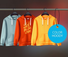Colored hoody design template vector