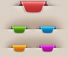 Colorful Web Labels PSD Set