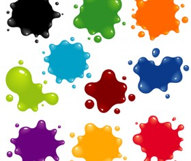 Colorful blots vector material