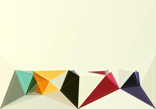Concept polygonal vectors background art 03