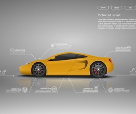 Creative car infographic design 01