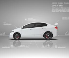 Creative car infographic design 02