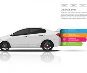 Creative car infographic design 03