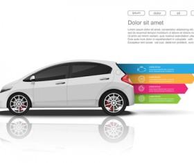 Creative car infographic design 08