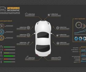 Creative car infographic design 10