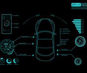 Creative car infographic design 11