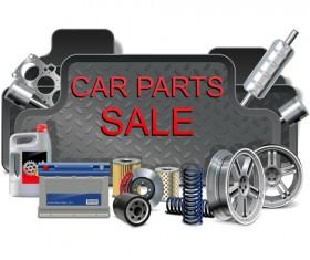 Creative car parts background vector 03