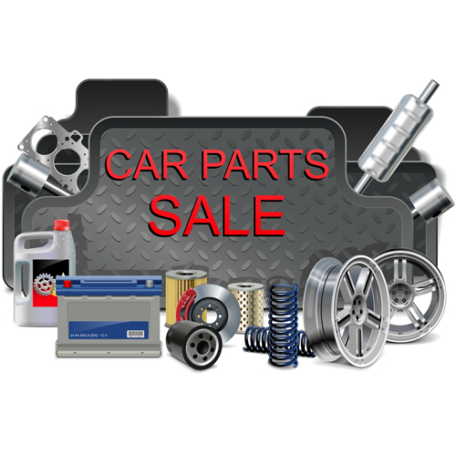 Creative car parts background vector 03