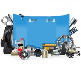 Creative car parts background vector 06