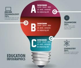 Creative lightbulb infographic vectors material 11