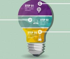 Creative lightbulb infographic vectors material 12