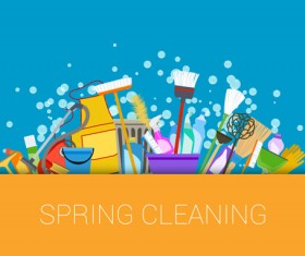 Creative spring cleaning vector background 04