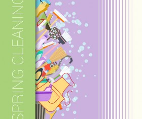 Creative spring cleaning vector background 05