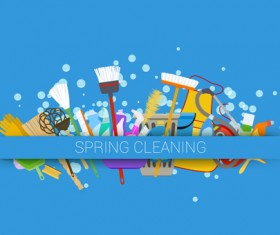 Creative spring cleaning vector background 06
