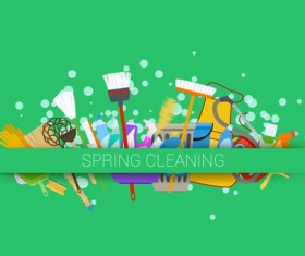 Creative spring cleaning vector background 07