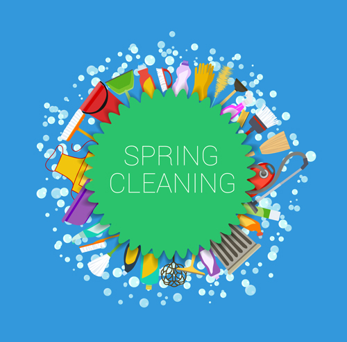 Creative spring cleaning vector background 08