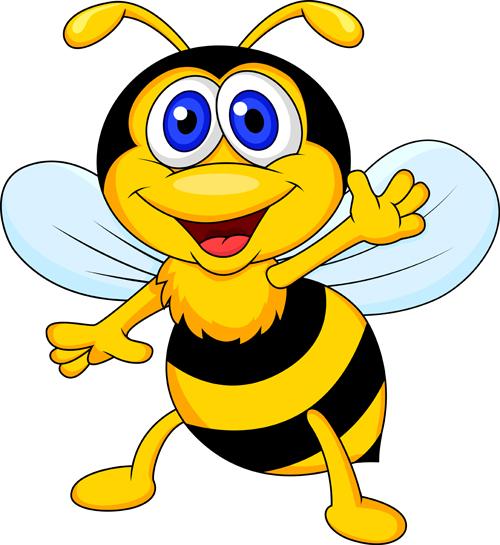cute bee cartoon vector illustration 10 free download rh freedesignfile com cartoon vectors and cutouts cartoon vector stock