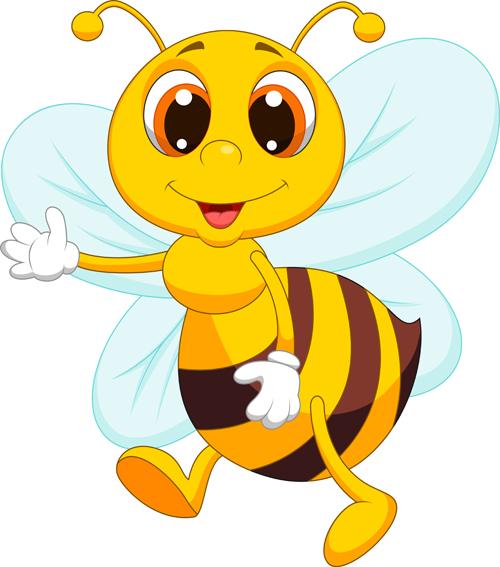 cute bee cartoon vector illustration 12 free download