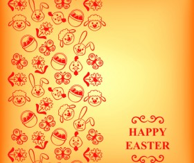 Cute easter card vector graphics 01