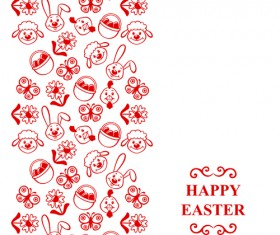 Cute easter card vector graphics 02