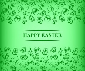 Cute easter card vector graphics 03