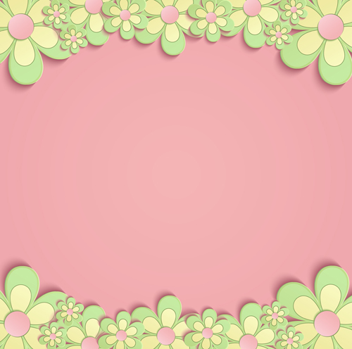 Cute paper flower with pink background vector vector for Cute designs for paper