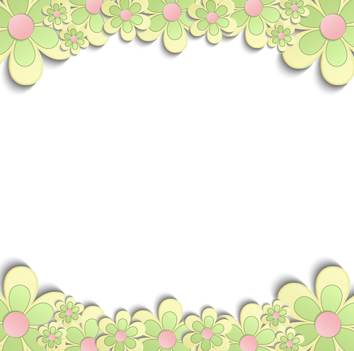 Cute paper flower with white background vector free download for Cute designs for paper