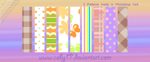 Cute spring photoshop patterns