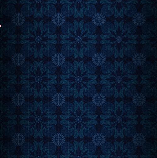 Dark Blue And Gold Bedroom Ideas: Dark Blue Pattern