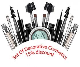 Decorative cosmetics discount poster vector 01