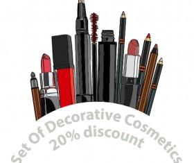 Decorative cosmetics discount poster vector 02