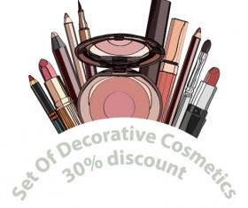 Decorative cosmetics discount poster vector 03
