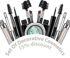 Decorative cosmetics discount poster vector 04