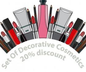 Decorative cosmetics discount poster vector 05