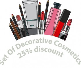 Decorative cosmetics discount poster vector 07