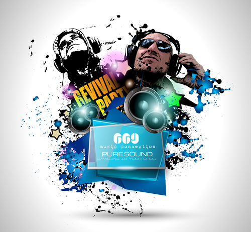 Disco party flyers template