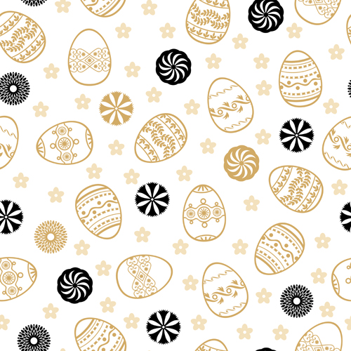 easter egg seamless pattern vector free download