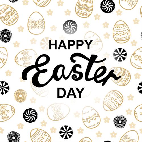 Easter letter pattern vector