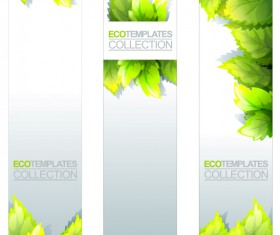 Eco banner template vector 01