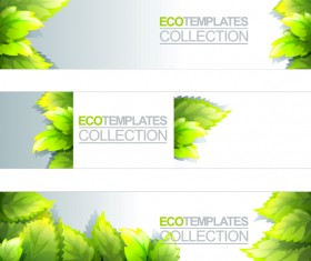 Eco banner template vector 02