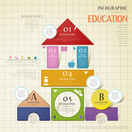 Infographic Ideas infographic template education : Education infographic template vector grapihcs 05 - Vector ...