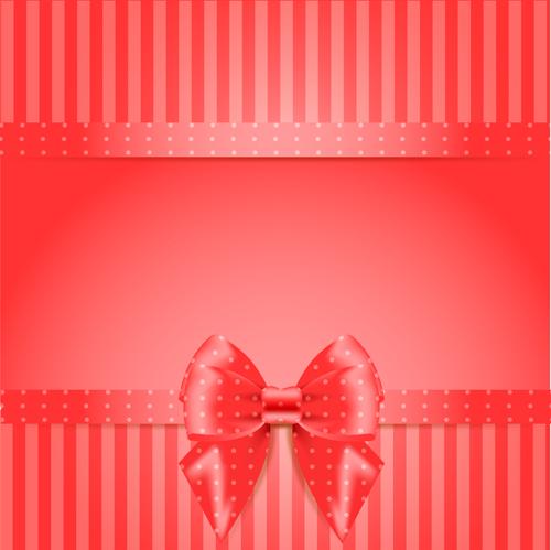 Elegant bow cards vector design 01
