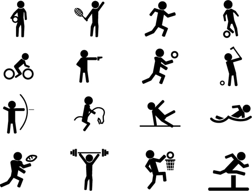 Exquisite vector sprot icons set 01