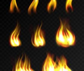 Flame illustration set vector 02