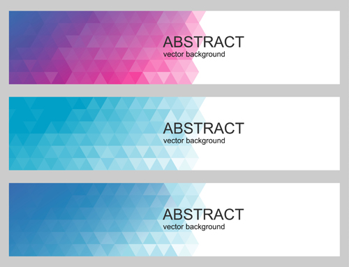 Geometry with abstract banners vector